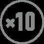 Vergrößerung: ×10