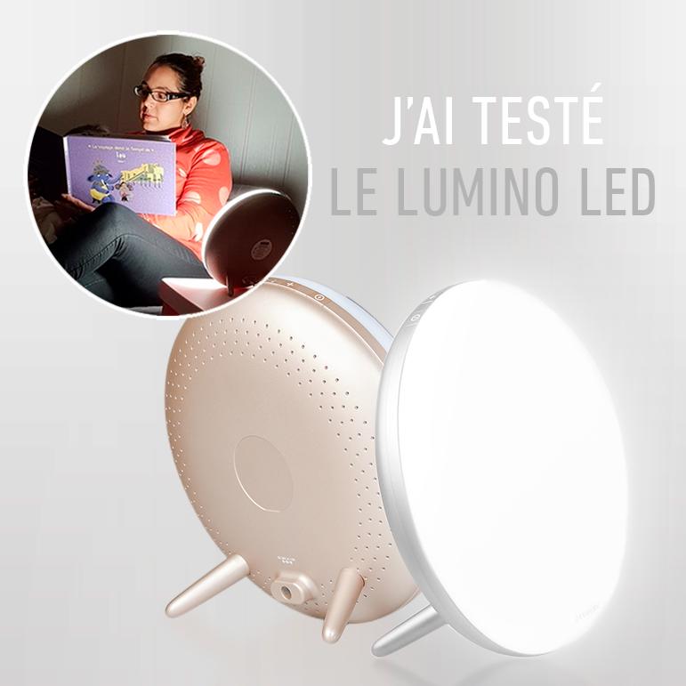 J'ai testé la nouvelle lampe de luminothérapie : Lumino LED