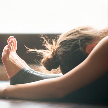 Relieving the stress of work with yoga